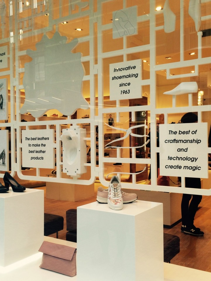 Ecco shoes window display